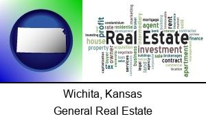Wichita, Kansas - real estate concept words