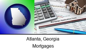 Atlanta, Georgia - a mortgage application form