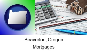 Beaverton, Oregon - a mortgage application form