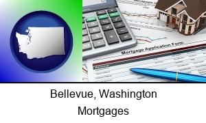 Bellevue Washington a mortgage application form