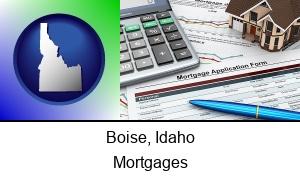 Boise Idaho a mortgage application form