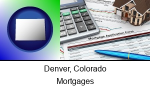Denver Colorado a mortgage application form