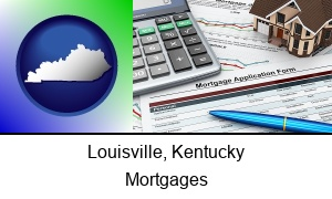 Louisville Kentucky a mortgage application form