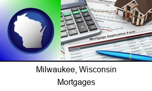 Milwaukee, Wisconsin - a mortgage application form
