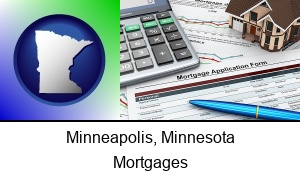 Minneapolis Minnesota a mortgage application form