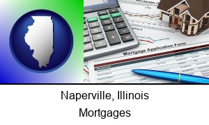 Naperville Illinois a mortgage application form