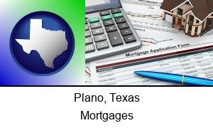 Plano, Texas - a mortgage application form