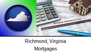 Richmond, Virginia - a mortgage application form