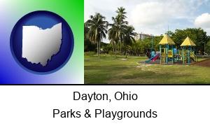 Dayton Ohio a tropical park playground