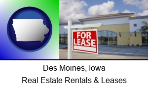 Des Moines Iowa commercial real estate for lease