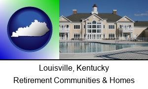 Louisville Kentucky an active adult community center and swimming pool