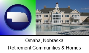 Omaha Nebraska an active adult community center and swimming pool