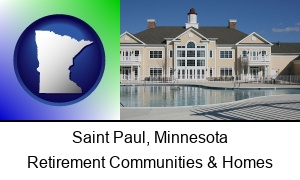 Saint Paul Minnesota an active adult community center and swimming pool