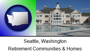 Seattle Washington an active adult community center and swimming pool