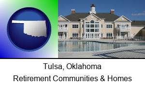Tulsa Oklahoma an active adult community center and swimming pool