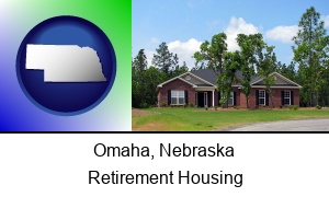 Omaha, Nebraska - a single story retirement home