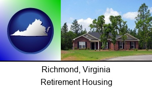 Richmond, Virginia - a single story retirement home