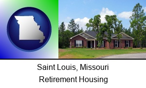 Saint Louis, Missouri - a single story retirement home