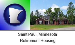 Saint Paul, Minnesota - a single story retirement home