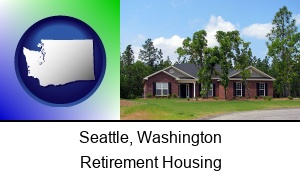Seattle, Washington - a single story retirement home
