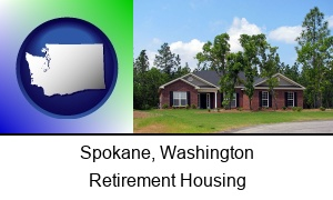 Spokane, Washington - a single story retirement home