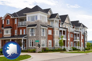 luxury apartments with Alaska map icon