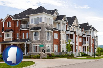 luxury apartments with Mississippi map icon