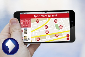 apartments for rent with Washington, DC map icon