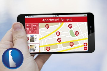apartments for rent with Delaware map icon