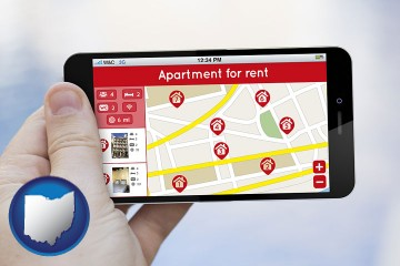 apartments for rent with Ohio map icon