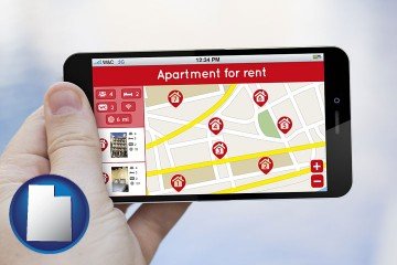apartments for rent with Utah map icon