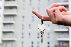 an apartment key