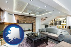 Alaska - a living room in a luxury apartment