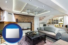 Colorado - a living room in a luxury apartment