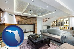 Florida - a living room in a luxury apartment