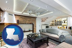 Louisiana - a living room in a luxury apartment