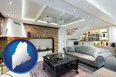 Maine - a living room in a luxury apartment