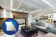 Missouri - a living room in a luxury apartment