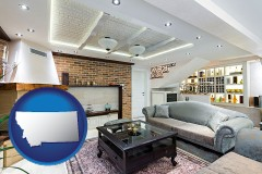 Montana - a living room in a luxury apartment