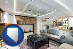 Nevada - a living room in a luxury apartment