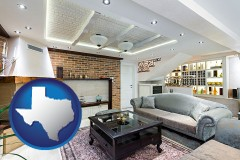 Texas - a living room in a luxury apartment