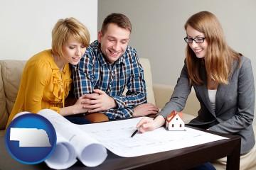 a home design consultant with Nebraska map icon