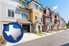 Texas row of townhouses