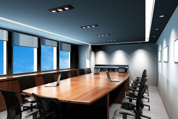 an executive conference room