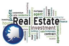Alaska - real estate concept words