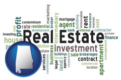 Alabama - real estate concept words