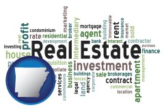 Arkansas - real estate concept words