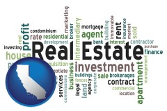 California real estate concept words