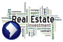 Washington, DC - real estate concept words