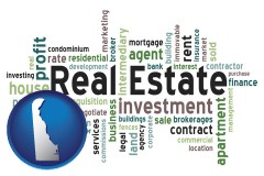 Delaware - real estate concept words